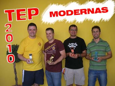 Finalistas del torneo de máquinas modernas TEP 2010